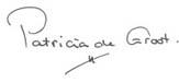 handtekening Patricia de Groot